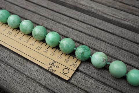 (SPL00085) Chrysoprase 16.5-18.5mm round beads