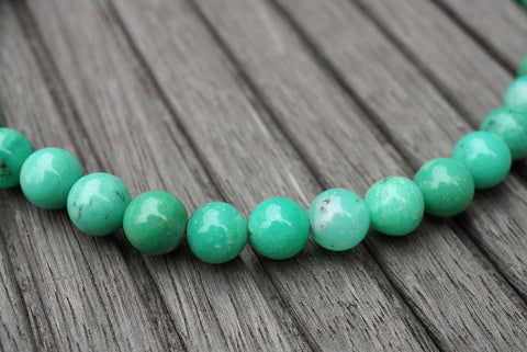 (SPL00089) Chrysoprase 10-10.5mm round beads