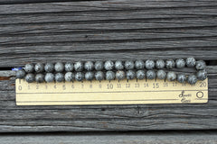 (SPL00003) Fossilised Bryozoan Coral round beads