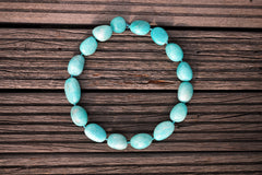 (SPL00053) Peruvian Amazonite organic form/pebble beads (large)