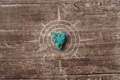 (SPL00081) Sleeping beauty turquoise small heart pendant