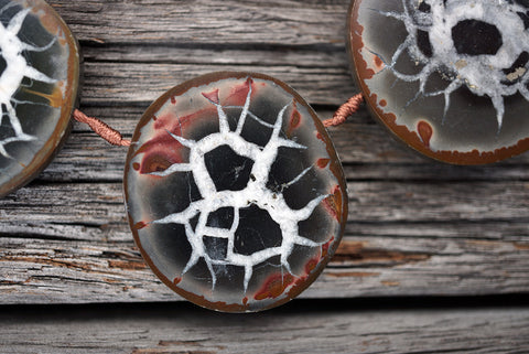 (SPL00015) Septarian freeform beads/necklace