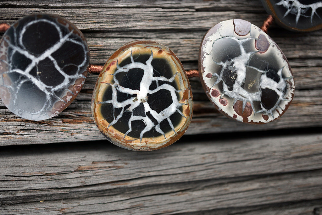 (SPL00016) Septarian freeform beads/necklace