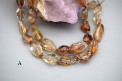 Oregon SunStone facted beads 7-11mm (ETB01384) Healing stone/Unique jewelry/Vintage jewelry/オレゴンサンストーン