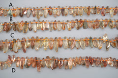 Oregon SunStone facted beads 9-21.5mm (ETB01539) Healing stone/Unique jewelry/オレゴンサンストーン