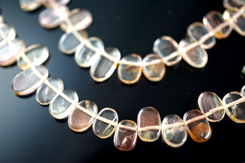 Oregon SunStone oval beads 6-12mm (ETB01489) Healing crystal/Unique jewelry/Vintage jewelry/オレゴンサンストーン