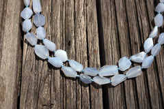 Blue Chalcedony 9-16mm faceted beads (ETB00435)