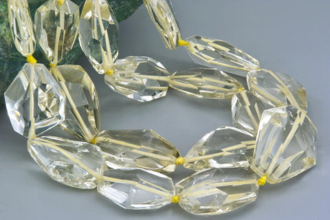 Natural Citrine quartz faceted beads A grade (ETB01114)