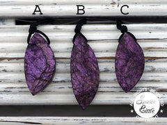 Rare & Natural Purpurite freeform pendants (ETP00259)
