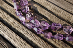 Natural Amethyst (Brazil) 5.5-11mm faceted beads (ETB00797)