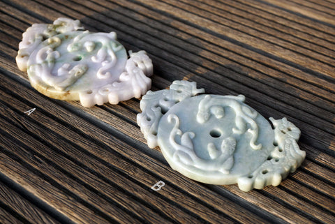 Burma Jade carved pendants (ETP00199)