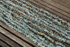 Aquamarine 4-11mm small tube beads (ETB00705)
