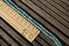 Aquamarine 4-6mm rondelle beads (ETB00707)