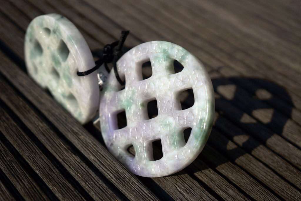 Burma Jade carved pendants (ETP00198)