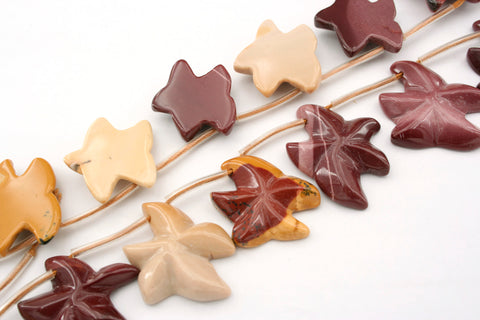 Mookaite 20-24mm starfish shape one side facted beads (ETB01300)