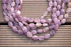Natural Lavender Amethyst (Madagascar) 9-11mm oval beads (ETB00067)