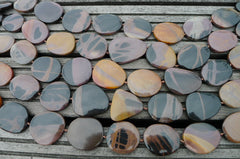 Mexican Picture Jasper 21-33mm Pebble beads (ETB00223)