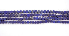 Matte Lapis Lazuli 7.5-11mm button beads  (amazing blue colour with gold sparkles) (ETB01337)