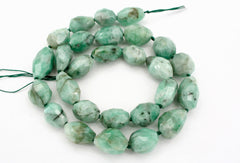 Emerald 9-10.5mm faceted beads (ETB01334)