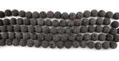 Natural Lava 22mm round beads (ETB01246)