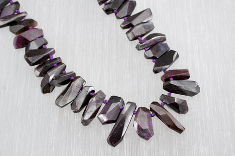 A Grade Sugilite Faceted beads (ETB00855)
