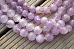 Natural Lavender Amethyst (Madagascar) 8.5-9mm round beads (ETB00073)