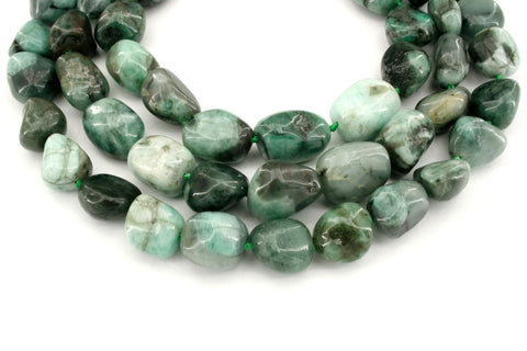 Emerald freeform beads (ETB01336)