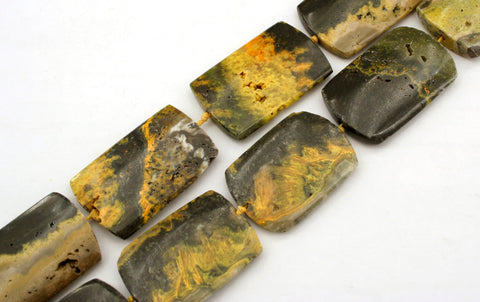 Bumblebee Jasper 20-26mm rectangle beads (ETB00552)