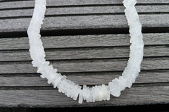 Natural Matte Crystal 11-12mm Triangle beads (ETB00235)