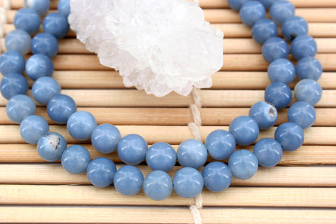 Owyhee Blue Opal 6.5-7mm round beads (ETB00871)