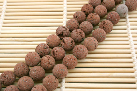 Natural Brown Lava 10mm round beads (ETB01210)