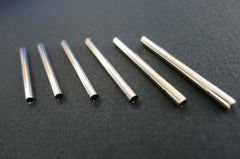 Metal pipes (10 pcs) for jewellery making (ETO00013)