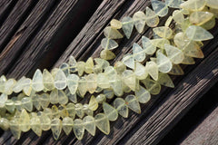 Natural Green Garnet teardrop beads (ETB00175)