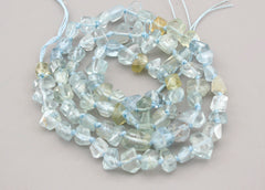 Aquamarine 4-9mm faceted beads (ETB00439)