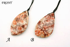 Bird's eye agate freeform pendant (ETP00224)