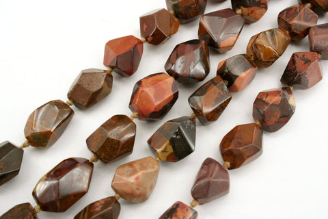 Autumn Jasper 12.5-16mm faceted beads (ETB01278)