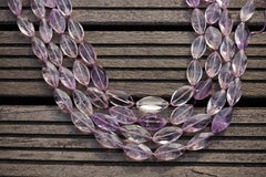 Natural Amethyst (Brazil) faceted Marquise beads (ETB00069)