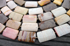 Hidden Valley Jasper 21-24mm Rectangle beads (ETB00238B)