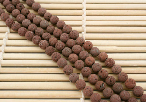 Natural Brown Lava 8mm round beads (ETB01236)