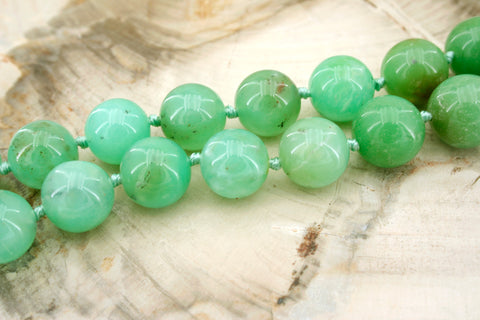 Chrysoprase 12-18mm round beads (ETB01326)