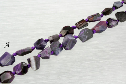 A Grade Sugilite Faceted beads (ETB00835)