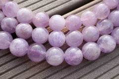Natural Lavender Amethyst (Madagascar) 11-13mm round beads (ETB00075)