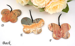 Matte Cherry Creek butterfly pendants (ETP00184)