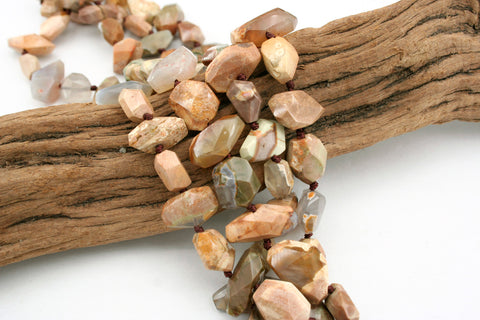 Australian Thunderegg faceted beads (ETB01284)