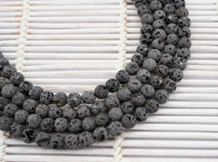 Natural Lava 6mm round beads (ETB01241)
