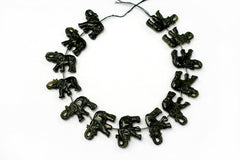 Golden Obsidian 33-39mm Elephant beads handmade (ETB00686)