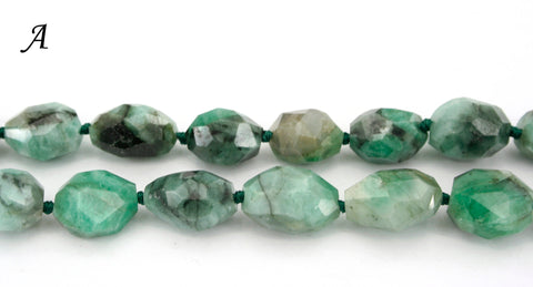 Emerald 9-13mm faceted beads (ETB01333)