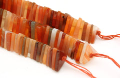 Carnelian 11-12mm triangle beads (ETB01041)