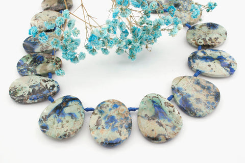 Rare and Natural Azurite freeform beads (ETB01150)