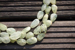 Australia Sun Jade AB grade 10-13 mm pebble beads (ETB00177)